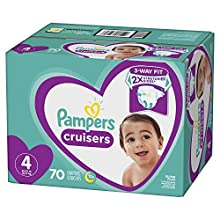 Diapers Size 4, 70 Count - Pampers Cruisers Disposable Baby Diapers, Super Pack