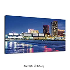 INTRODUCTION: High definition picture photo prints on canvas with vivid color on thick high quality canvas to create the look and feel of the original nature and masterpiece. This art work comes already perfectly stretched on wooden frame wit...
