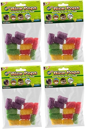 (4 Pack) Ware Small Rice Pops Small Animal Treats (Each Pack Contains 12 Treats / 48 Treats Total) ()