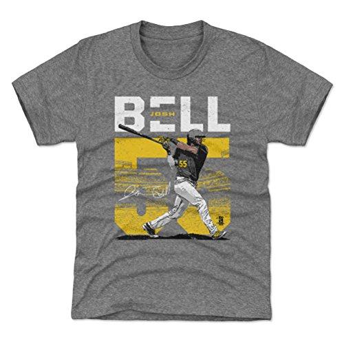 (500 LEVEL Pittsburgh Baseball Youth Shirt - Kids Medium (8Y) Tri Gray - Josh Bell Stadium Y WHT)