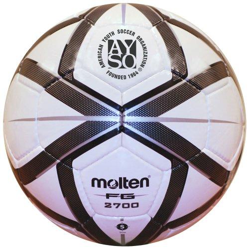 Molten AYSO FG Design Soccer Ball, Black/Silver, Size 3