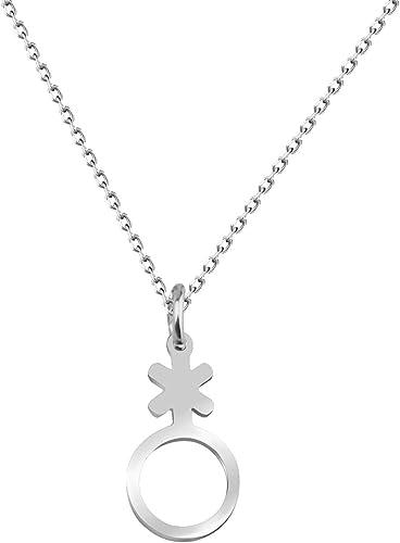 Transgender Symbol Pendant LGBT Non Binary Pride Symbol Chain Necklace LGBT