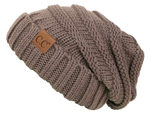 (Funky Junque H-6100-45 Oversized Slouchy Beanie - Taupe)