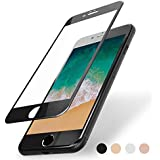 FlexKlearGlass Compatible 9H Soft Glass Screen Protector, if Applicable Apple iPhone 7, Full Protection from Edge to Edge (Non-Case Friendly), Rose Gold Edges Made by PET (Not Tempered Glass)