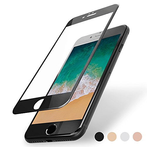 FlexKlearGlass Compatible 9H Soft Glass Screen Protector, if Applicable Apple iPhone 7 Plus, Full Protection from Edge to Edge (Non-Case Friendly), Black Edges Made by PET (Not Tempered Glass)