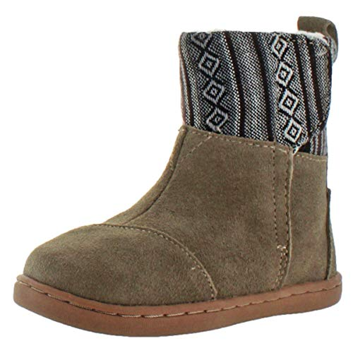 TOMS Nepal Girls Toddler Faux Shearling Winter Boots Gray Size ()