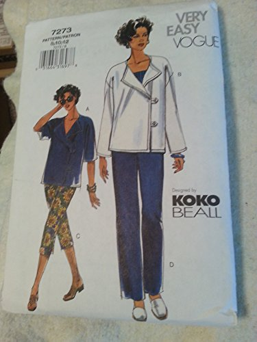 Vogue 7273 Top, Jacket & Pants by Koko Beall Sizes 8-10-12
