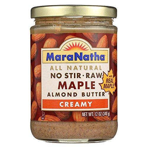 Maple Almond - Maranatha Creamy Raw Maple Almond Butter, 12 oz