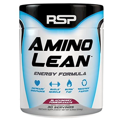 RSP Nutrition Amino Lean Energy Formula, Blackberry Pomegranate, 8.3 Ounce