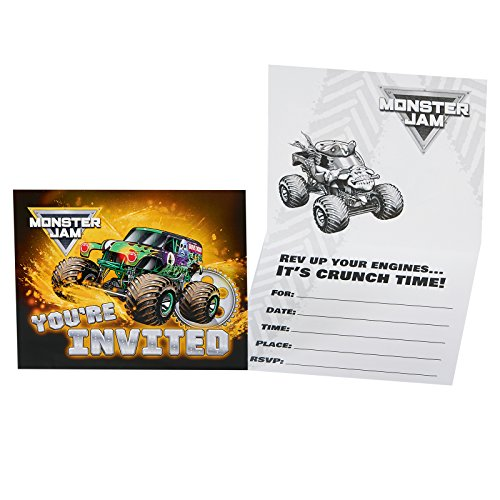 Monster Jam Party Supplies - Invitations (8)
