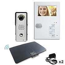 4-Wire villa intercom system.Video door phone.