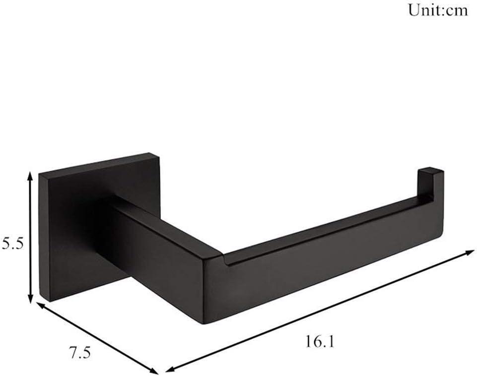 WOMAO Porte-Rouleaux /Étag/ère Supports Muraux en Acier Inoxydable Moderne pour Toilettes Salle de Bain Per/çage Noire Simple Carr/é Ouvert