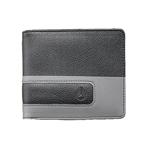 nixon-showoff-bi-fold-wallet-mens-black-dark-gray-one-size