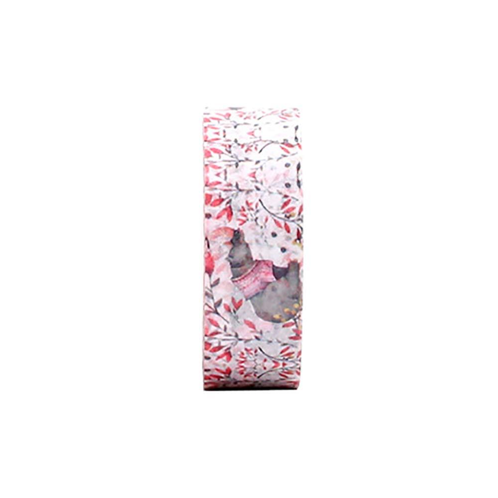 Gespout Bandes Adhésives Papier Ruban Décoratif Washi Coloré Papier Adhésif pour Scrapbooking Artisanat Cadeau Emballage Fournitures Bureau DIY Autocollant 1.1cm x 7m