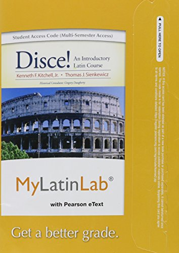 MyLatinLab with Pearson eText -- Access Card -- for Disce! An Introductory Latin Course (multi semester access)