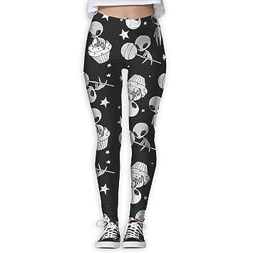 Flamagy Pantalones de Yoga Extraterrestres Negros y ...