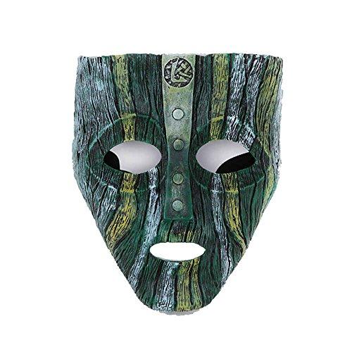 Loki Mask (Charmgle Resin Loki Mask Deluxe Jim Carrey The Mask Halloween Fancy Dress Costume (Light Green))