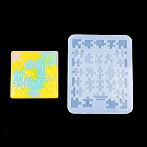 Jigsaw Puzzle Mold Geometric Components Pendant Casting Silicone Resin Mold Making Process Tools (SizeB)