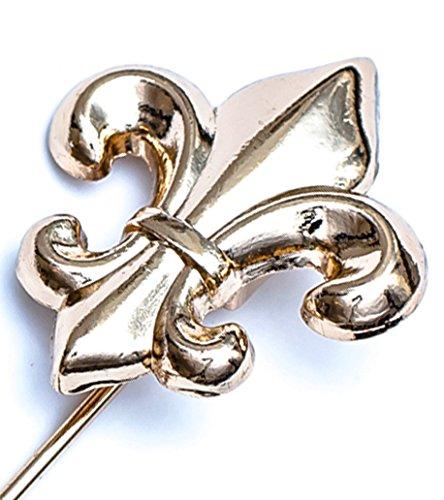 Flairs New York Gentleman's Essentials Premium Handmade Artisan Lapel Pins (Golden French Lily)