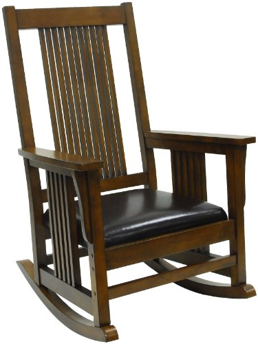 Chestnut Living Room Chair (Carolina Chair and Table Chestnut RTA Deluxe Mission Rocker)