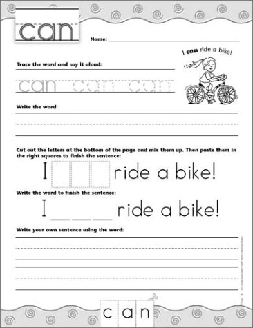 Workbook first grade worksheets pdf : Amazon.com: 100 Write-and-Learn Sight Word Practice Pages ...