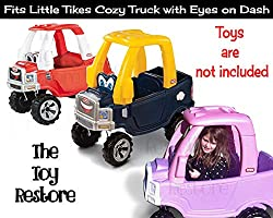 The Toy Restore Replacement Stickers Spare Decals Kit Fits Little Tikes  Cozy Truck with Eyes on Dash