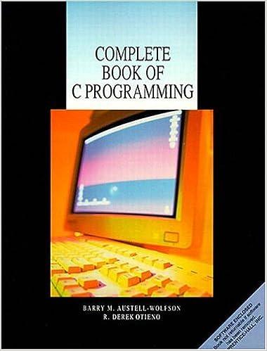 Amazon com: Complete Book of C Programming (9780130960931