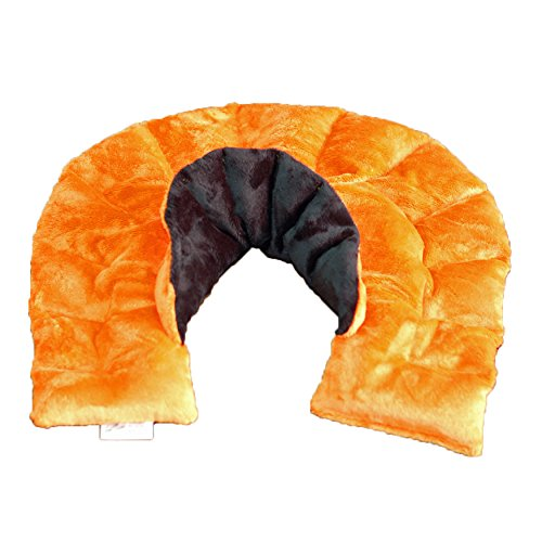 Concept Fleece - Herbal Concepts Hot & Cold Neck & Shoulder Wrap, Orange/Black