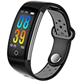 IP68 Fitness Tracker Blood Pressure Heat Rate Monitor Blood Oxygen Sleep Monitor Activity Tracker Pedometer for Women Men Kids