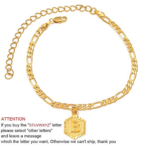 Choose Letter - 21cm + 10cm Extender Chain/A-Z Initial Letter Anklet for Women Fashion Alphabet Jewelry Gifts Foot Chain Girl #105906 (Choose Letter A)