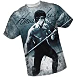 Signature -- Bruce Lee All-Over Front Print Sports Fabric T-Shirt