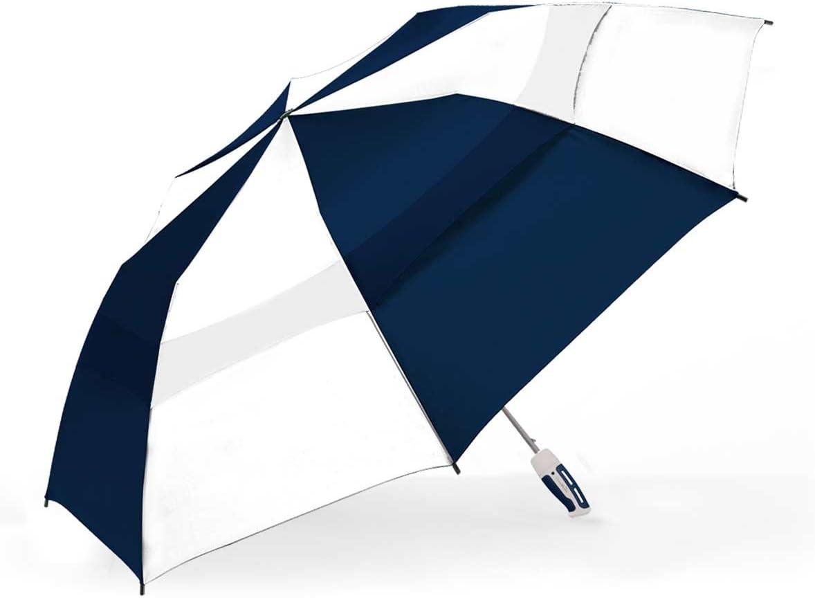 The Indestructible Umbrella Navy/White Storm Rider Folding Model Self Defense