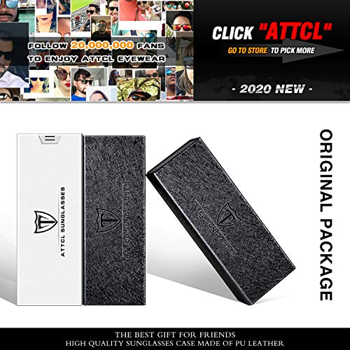 ATTCL Men's Retro Metal Frame Driving Polarized Sunglasses For Men