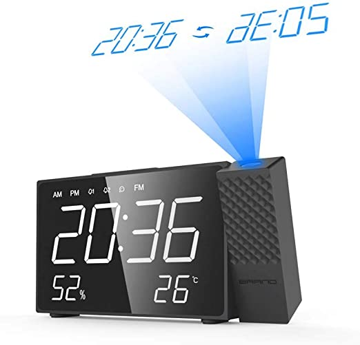 XIGG Despertador Proyector, Carga USB de Giratorio de 180 ...
