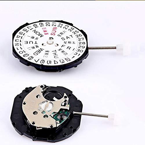 Pukido Watch Accessories Double Calendar Week Calendar Quartz Movement SL28 Watch Clock Accessories 3 Needle Quartz Movement