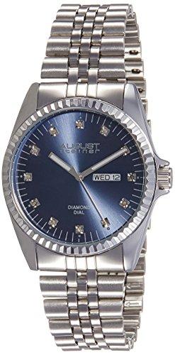 August Steiner Men's AS8169BU Silver-Tone Watch