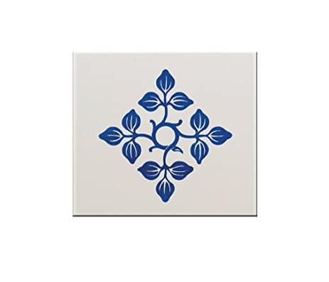 Amazoncom Blue Petals X Ceramic Tile Backsplash Accent Mural - 6x6 accent tiles