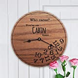Personalized Solid Oak Clock Cabin Decor Gift – Funny Cabin Gift by Story Cabin Review
