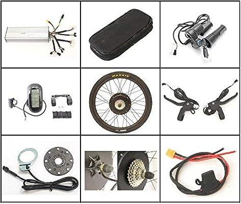 HYLH 36V 1200W 48V 1500W Kits de conversión de Rueda Trasera de 26 ...