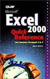 Microsoft Excel 2000 Quick Reference, Nancy Warner, 0789725878