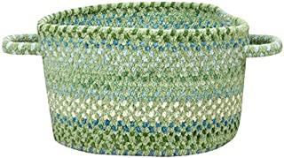 "product image for Capel Rugs Waterway 16"" x 9"" Braided Basket (Green)"