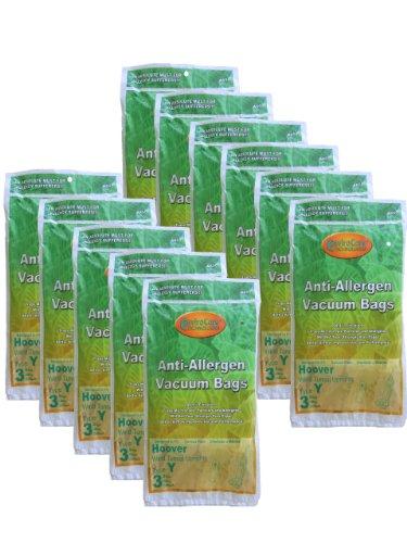 33 Hoover HEPA Allergy Type Y Bags, WindTunnel Upright Vacuum Cleaners, 43655109, 4010100Y, 4010801Y, AH10060DT,AH10040CLP,902419001, Royal, Gold Star, Pacific Steamex -