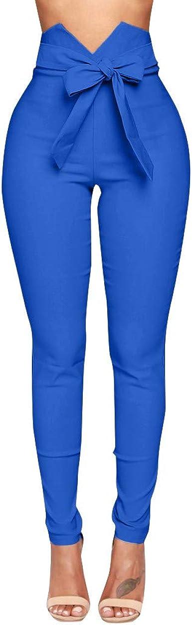 Pantalones Largos Para Mujer Verano Cintura Alta Paolian 2019 Pantalones Vestir Pitillo Push Up Elastico Skinny Elegantes Fiesta Baratos Amazon Es Ropa Y Accesorios