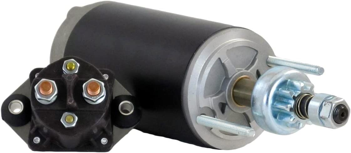 Rareelectrical NEW STARTER MOTOR COMPATIBLE WITH WITH SOLENOID FORCE MARINE 903F 906F 908F 90EL 90ELPT 61-6955 61-6955 A85955 50-616955-1 18-5644 SM44120 616955