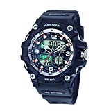 Pasnew-467 Sports Analogue-Digital Watches Mens Watches Boys Teenagers Watches Students Watch with Alarm Waterproof...