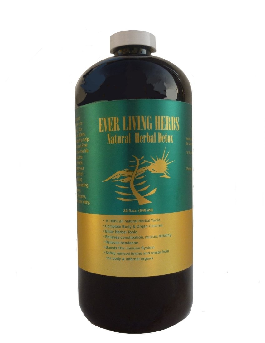 Ever Living Herbs w/ Moringa & Neem Natural Herbal Detox 32 Oz.