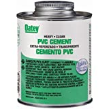 Oatey 30876 PVC Heavy Duty Cement, Clear, 16-Ounce