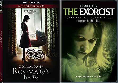 Rosemary's Baby DVD Movie Set The Miniseries & The Exorcist Horror Movie Double Feature (Halloween Horror Nights Texas Chainsaw Massacre)
