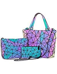 109b9e5d42 Geometric Luminous Purses and Handbags for Women Holographic Reflactive  Crossbody Bag Wallet