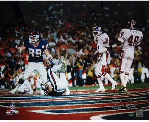 Ken Regan Autographed Signed Mark Bavaro SB XXI TD Celebration- Pointing Horizontal 16x20 Photo No Certs or Holos - Authentic Signature